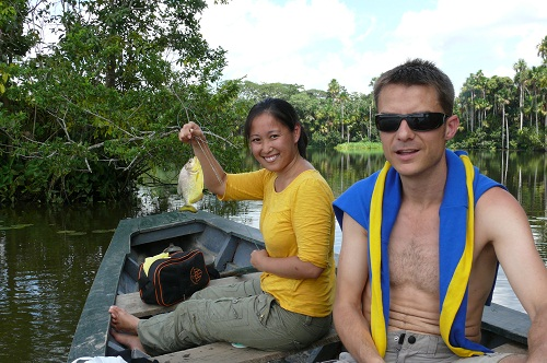 Fishing at Tambopata